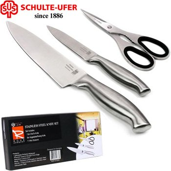 Schulte-Ufer 3-Pc Stainless Steel Knife Set