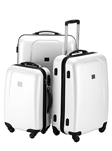 HAUPTSTADTKOFFER - Wedding - Set di 3 valigie, colore Bianco (S, M & L), 212 litri