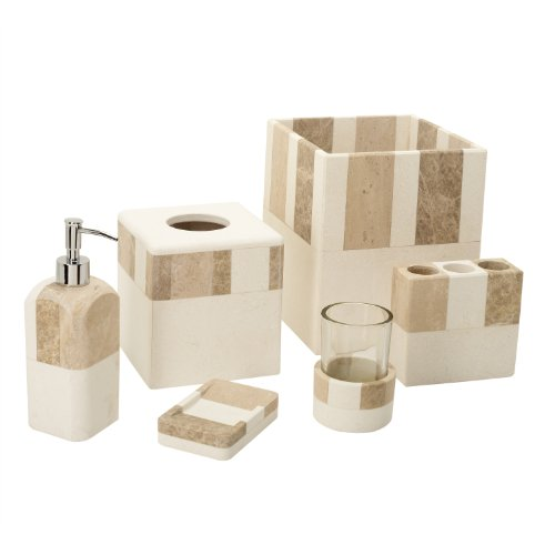 India ink 9889511401 monclova marble soap dish ivory for Beige bathroom set