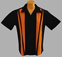 Mens Harley Bowling Shirt, Black and Orange Size 2XLarge Tall