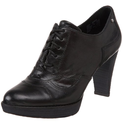 Rockport Women's Audry Welt Wave Oxford Black Distressed Platforms Heels K53719 8 UK