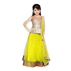 Najara Fashion fancy material traditional semi-stitched lahenga choli (njc004 6-7 yr)
