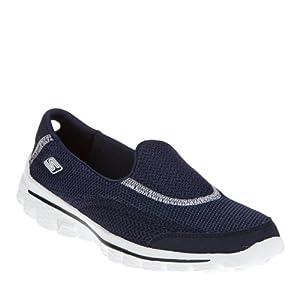 Skechers Women's Go Walk 2 Fashion Sneaker,Navy,10 M US