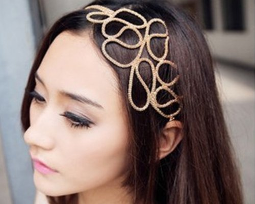 Stylish Hollow Out Braided Stretch Hair Head Band Accessories Headband Hairband for Women