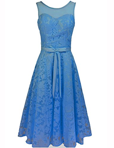 Levory J Women's Elegant Floral Lace Cap Sleeve Bridesmaid ...