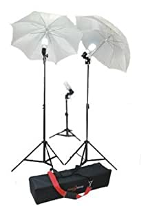 Studiohut Three Light Continuous Lighting Kit for Video/Digital/Portrait Photography with carry bag