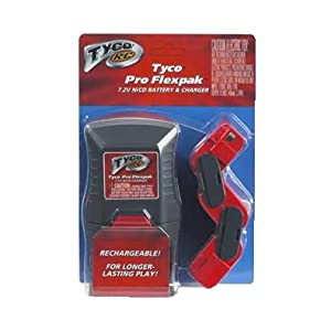 Tyco RC Premium Pro Flexpak 7.2V NiCd Battery Pack and Charger Rechargeable for Longer-Lasting Play
