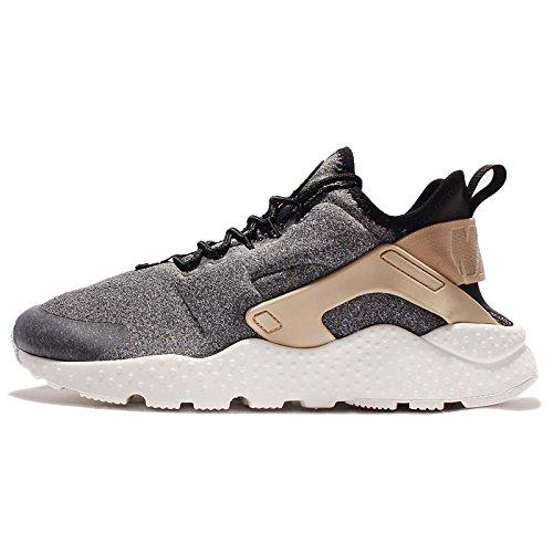 Nike Women's Wmns Air Huarache Run Ultra SE, BLACK/BLACK-VACHETTA TAN-WHITE, 8.5 US