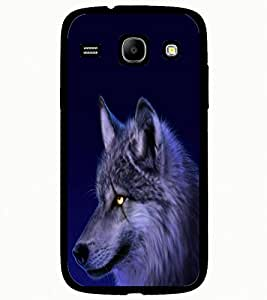 ColourCraft Scary Fox Look Design Back Case Cover for SAMSUNG GALAXY CORE I8262 / I8260