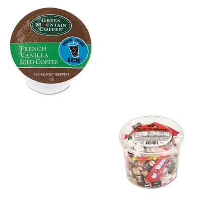 Kitgmt6832Ofx00013 - Value Kit - Green Mountain Coffee Roasters Brew Over Ice French Vanilla Iced Coffee K-Cups (Gmt6832) And Office Snax Soft Amp;Amp; Chewy Mix (Ofx00013)