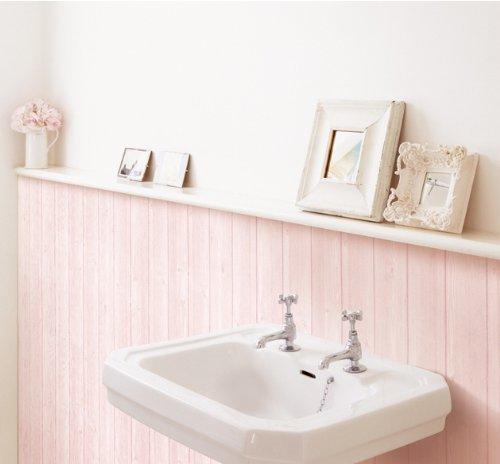 Decowall, HWN-22319 Pink Wood Grain Panel Effect Self Adhesive Wallpaper (3) 50cm x 5m)