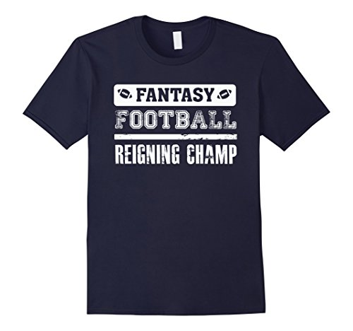 Men's Fantasy Football Reigning Champ Champion FFL League T Shirt XL Navy (Fantasy Football Champion Tshirt compare prices)