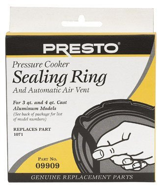 Presto Pressure Cooker Sealing Ring/Automatic Air Vent Pack (3 - 4 Quart)