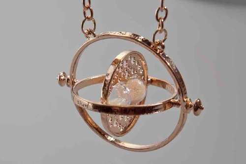 Collana giratempo Hermione Harry Potter nerd fantasy time turner clessidra AMULETO