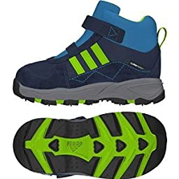 Adidas Outdoor Kid\'s Powderplay Mid Cp Blue Boot 3K M