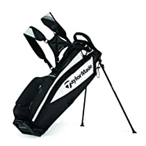 TaylorMade Microlite Stand Bag, Black/White