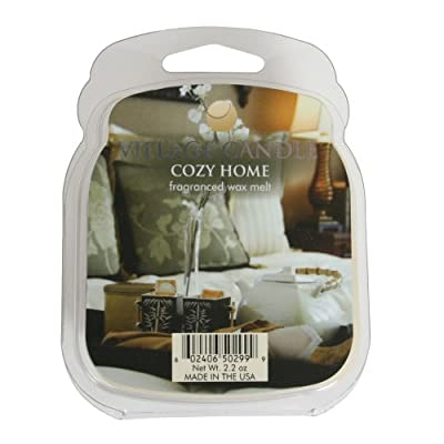 Village Candle 1-Piece Premium Wax Melt Pack for Oil/ Wax Burner, Cozy Home by Village Candle