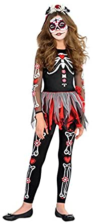 Children's Scared To The Bone Day of the Dead Costume
