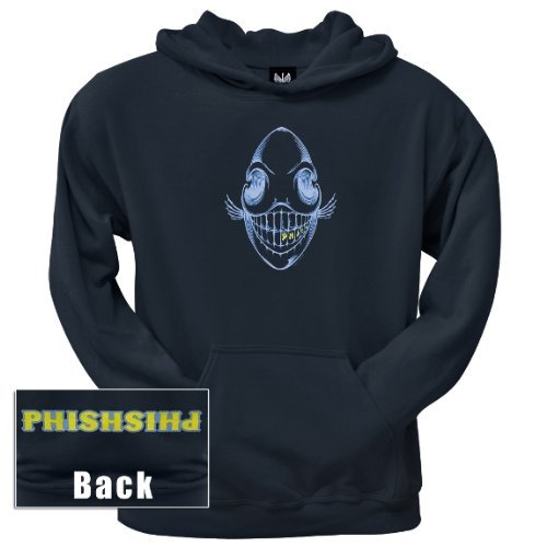Old Glory Mens Phish - Bone Phish Pullover Hoodie - 2X-Large Dark Blue