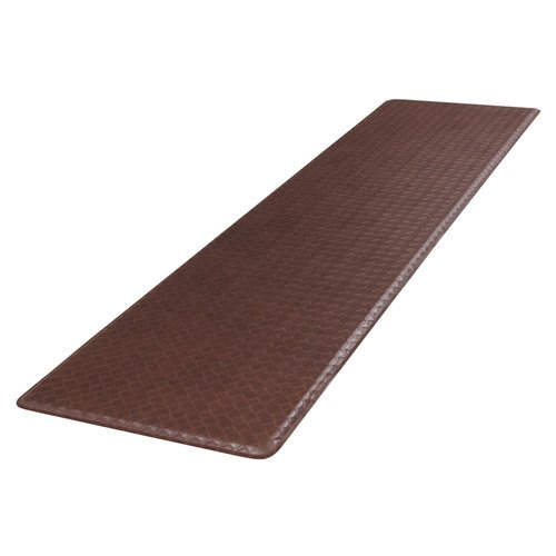 GelPro Plush 20 by 72-Inch Anti Fatigue Kitchen Mat, Basketweave, Truffle