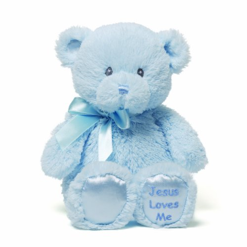 Gund Jesus Loves Me Blue Teddy Bear Plush