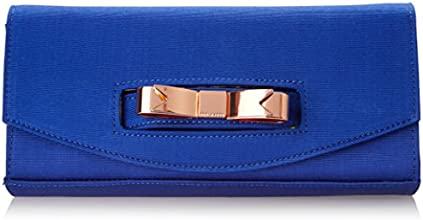 Ted Baker Bow Detail Clutch,Bright Blue,One Size