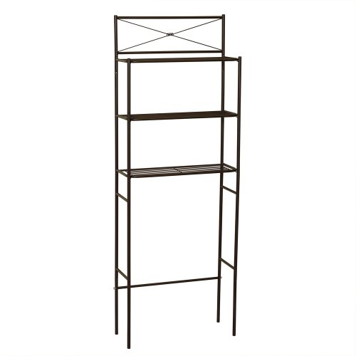 Zenith Products 2823Hb Ready Set Space Saver With 3 Shelves, Bronze front-845489