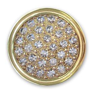 Bottone Jeans Swarovski Swarovski 1790/104 mm. 17 dorato Crystal