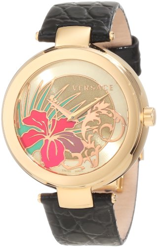 Versace Women's I9Q80D2HI S009 Mystique Golden Sunray Dial Watch