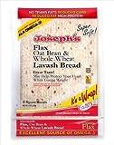 Joseph's Lavash Bread Flax Oat Bran & Whole Wheat Reduced Carb - 4 Square Breads