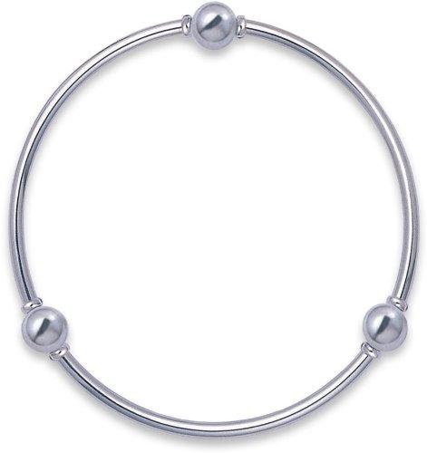 Bracciale rigido in argento Sterling massiccio, 7,2 g/m², dimensioni: diametro 67 mm 3024. spedito in scatola Bracciale in argento di qualità di prima classe della posta.