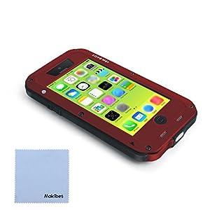 Funda para iPhone 5c Resistente tiempo malo/SUV/choque con un paño gratuito de Makibes (Rojo)  Hogar Comentarios de clientes y más información