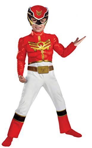 Boys Red Ranger Megaforce Tod Kids Child Fancy Dress Party Halloween Costume