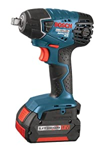 Bosch IWH181-01 18-Volt Lithium-Ion 3/8-Inch Square Drive Compact Impact Wrench Kit with 2 Batteries, Charger and Case from Bosch