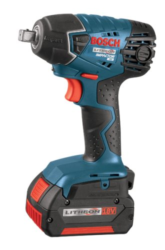 Bosch IWH181-01 18-Volt Lithium-Ion 3/8-Inch Square Drive Compact Impact Wrench Kit with 2 Batteries, Charger and Case at Sears.com