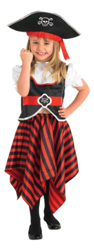 Rubies Kids Pirate Girl Costume Medium 5-6 YEARS