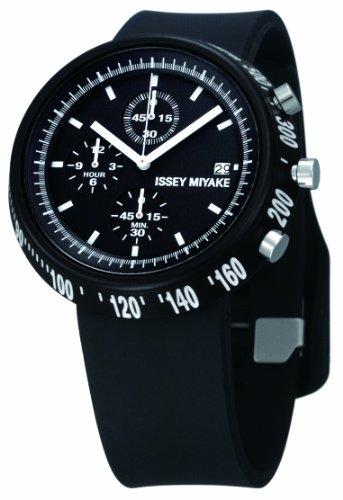 Issey Miyake IM-SILAT005 - Reloj unisex de cuarzo, correa de plástico color negro