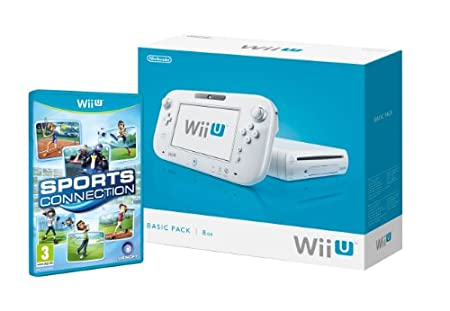 Nintendo Wii U - Consola 8 Gb Pack Básico + Sports Connection, Color Blanco