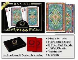 Da Vinci Sorrento - Italian 100% Plastic Playing Cards
