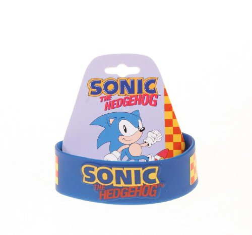 Picture of Bioworld Sonic The Hedgehog Rubber Bracelet Blue Figure (B0052N3TE4) (Bioworld Action Figures)