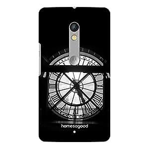 HomeSoGood Vintage Tower Clock Black 3D Mobile Case For Moto X Play (Back Cover)