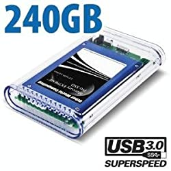 240GB SSD OWC Mercury On-The-Go USB 3.0 / 2.0 SSD Portable Bus Powered Solution.