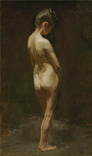 The High Quality Polyster Canvas Of Oil Painting 'Thomas Eakins,Female Nude(Study),ca.1881' ,size: 20x34 Inch / 51x86 Cm ,this High Definition Art Decorative Prints On Canvas Is Fit For Living Room Decor And Home Artwork And Gifts