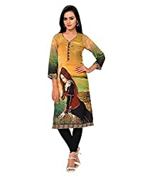 Shubh Women's Crepe Kurti (Shubh_112_Multi-Coloured_Free Size)