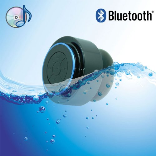 Wowtou(Tm) Mini Ultra Portable Waterproof Bluetooth Wireless Stereo Speakers With Suction Cup For Showers, Bathroom, Pool, Boat, Car, Beach, Outdoor Etc. | For All Devices With Bluetooth Capability + Siri Compatible - 6 Hours Playtime / With Built-In Mic