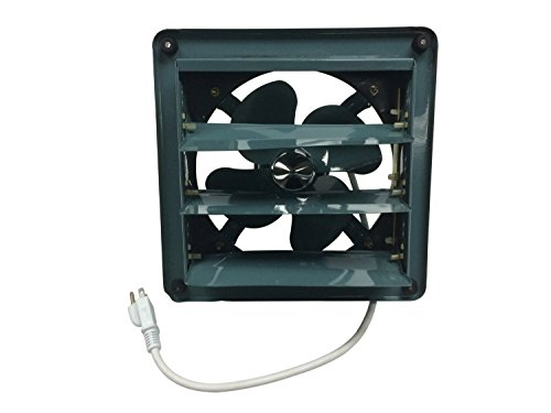 Professional Grade Products 9800511 Metal Shutter Exhaust Fan for Garage Shed Pole Barn Hydroponic Ventilation, 8