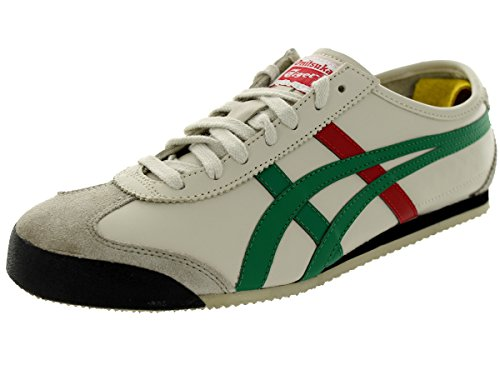Onitsuka Tiger Unisex Mexico 66 Birch/Green Casual Shoe 11.5 Men US
