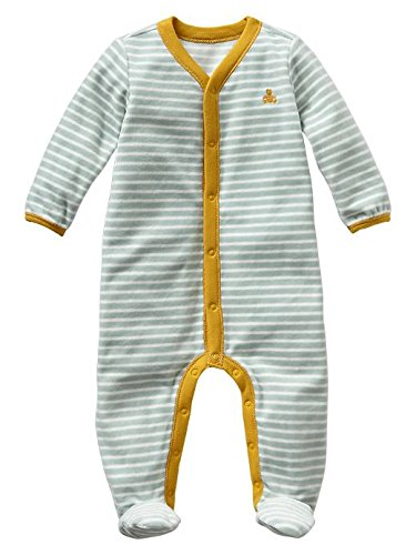Gap Baby Stripe Velour Footed One Piece Size 3-6 M front-948707