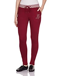 Sera Women's Track Pants (LA2115-Wine-XL)