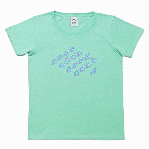 【Amazon.co.jp限定】星のカービィTシャツ ミントグリーン (旗あげゲーム) WF(ウィメンズフリー)サイズ